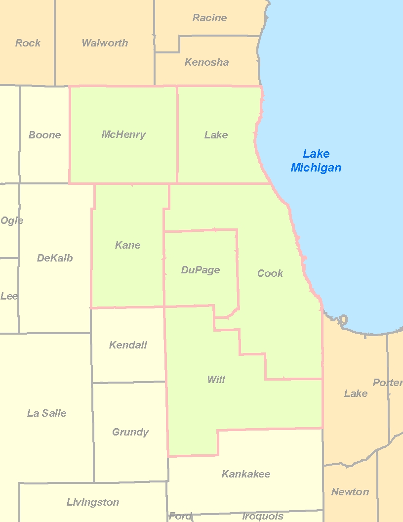 Map Of Northeastern Illinois Related Keywords